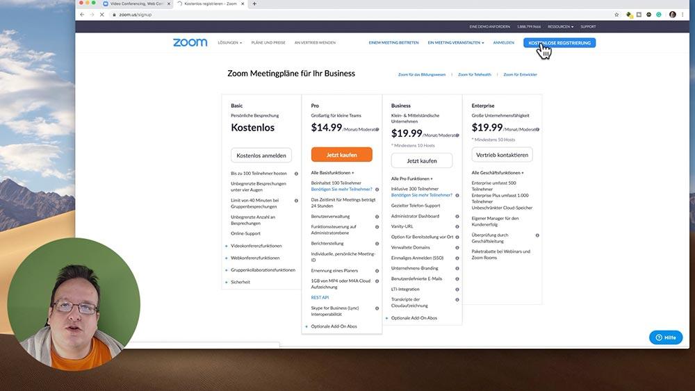 anleitung zoom 3 - Zoom Anleitung - Wie verwendet man Zoom für Online Meeting und seinem Business