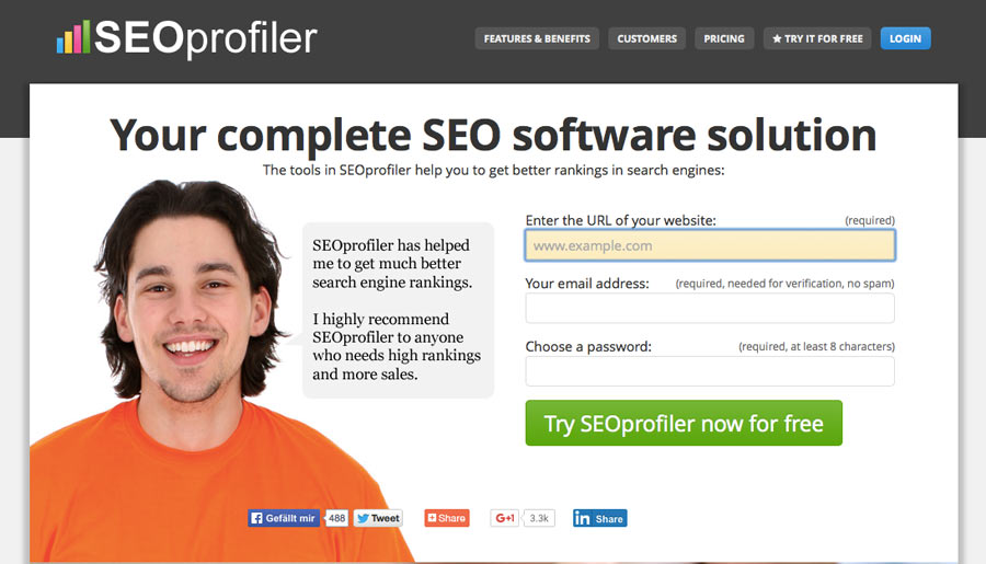 SEOProfiler - Backlink Checker Tool