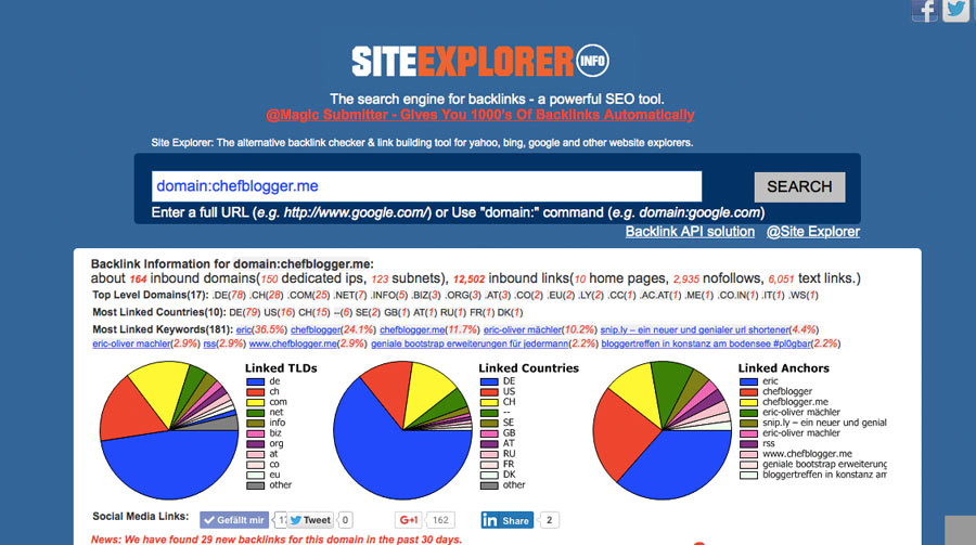 SiteExplorer - Backlink Checker Tool