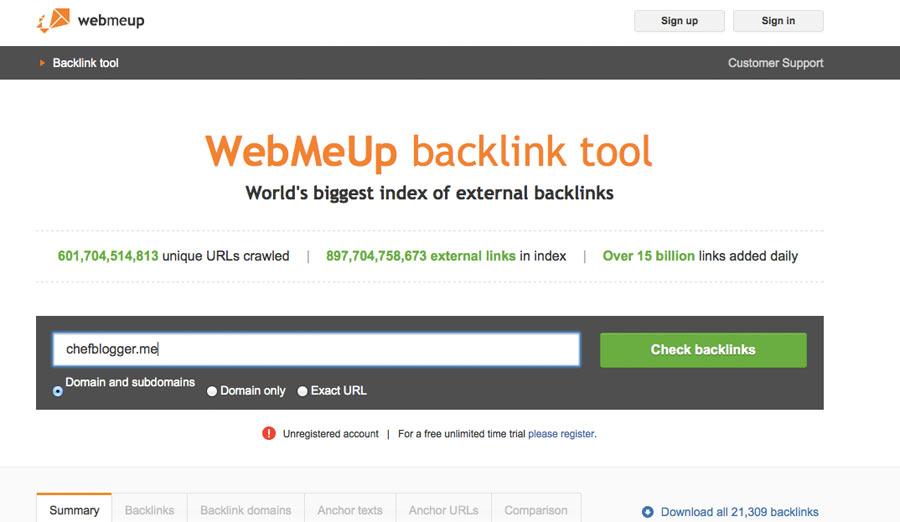 backlink checker webmeup - Top 8 +2 der besten Backlink Checker Tools