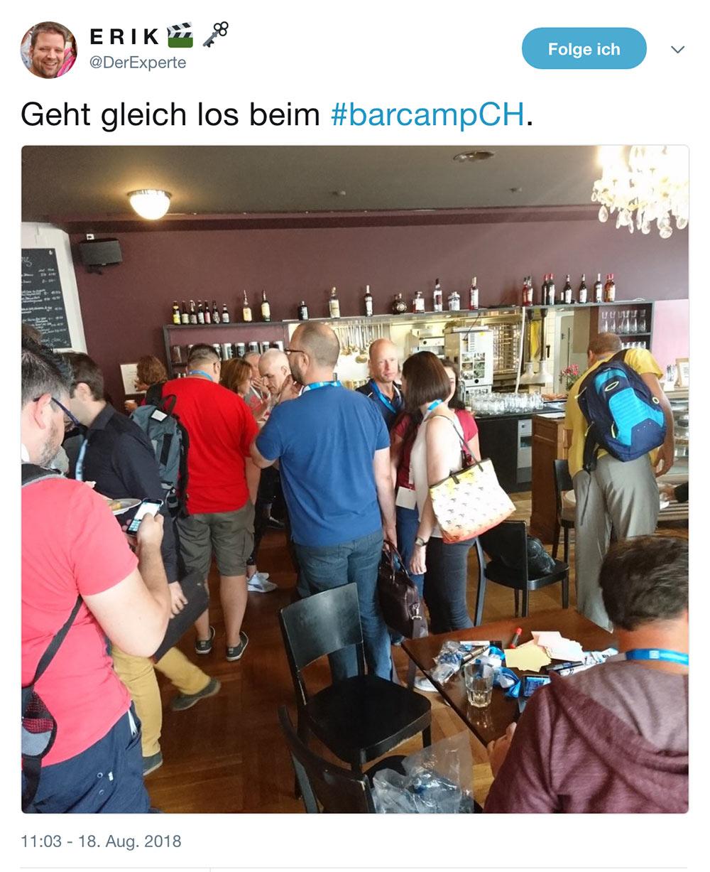 barcamp schweiz 2018 barcampch tweets 1 - Barcamp Schweiz 2018 - Mein Rückblick