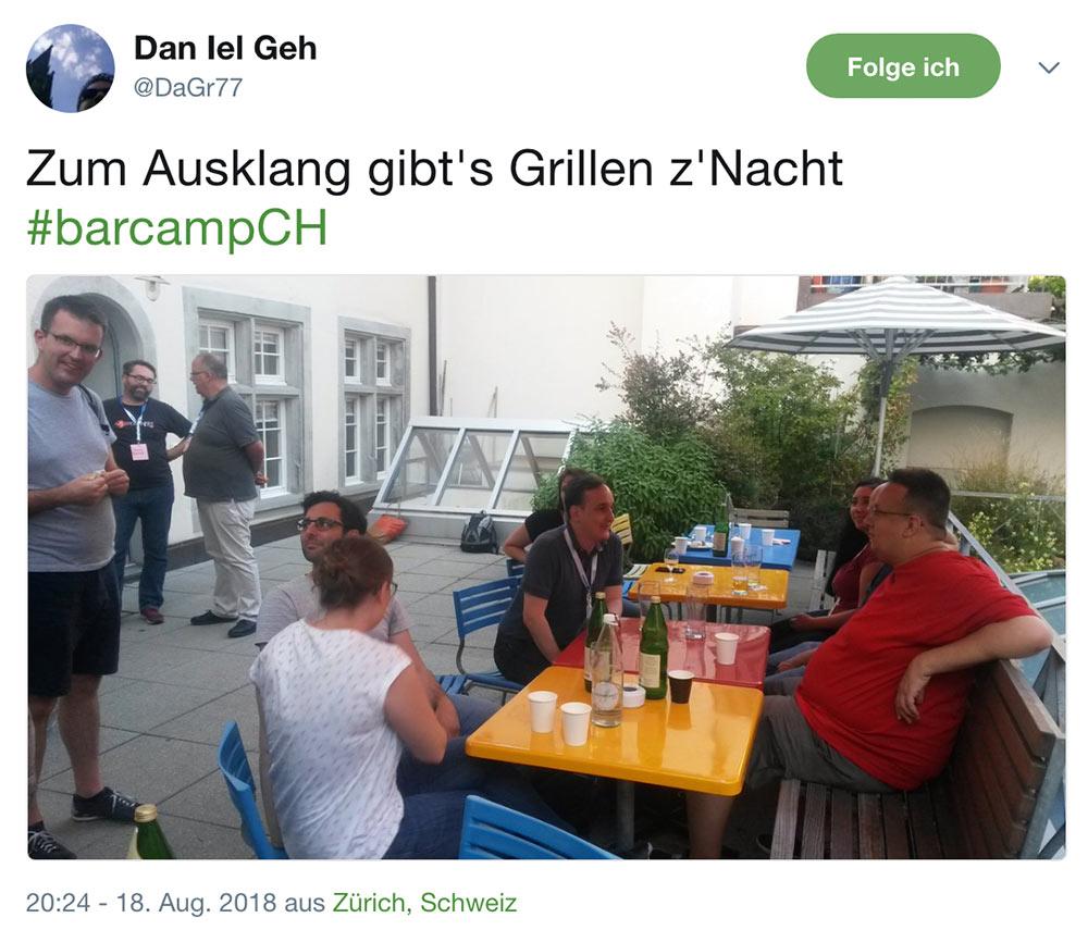 barcamp schweiz 2018 barcampch tweets 13 - Barcamp Schweiz 2018 - Mein Rückblick