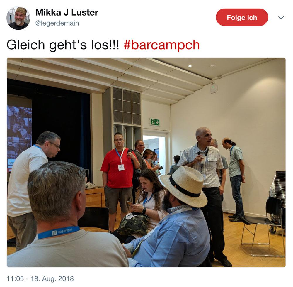 barcamp schweiz 2018 barcampch tweets 2 - Barcamp Schweiz 2018 - Mein Rückblick