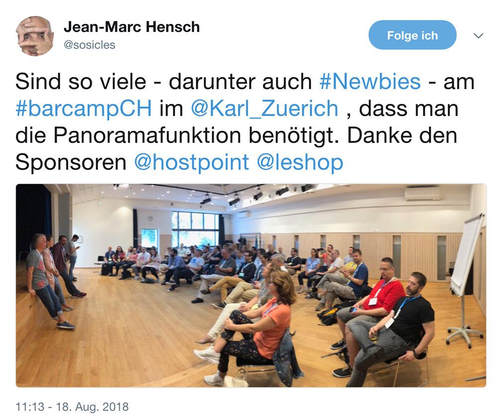 barcamp schweiz 2018 barcampch tweets 3 - Barcamp Schweiz 2018 - Mein Rückblick