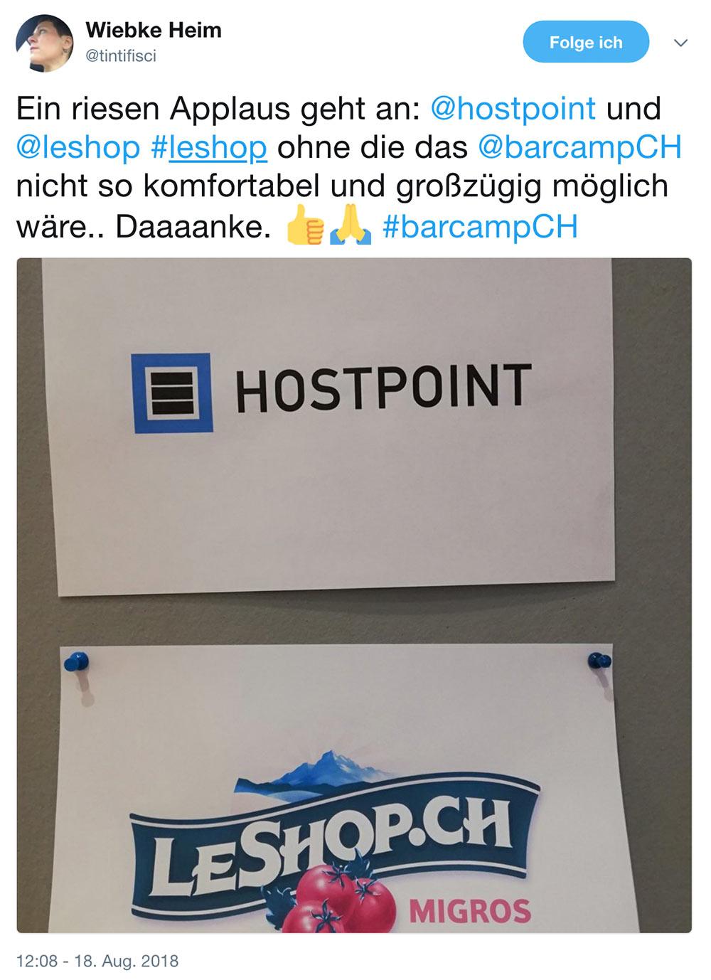 barcamp schweiz 2018 barcampch tweets 4 - Barcamp Schweiz 2018 - Mein Rückblick