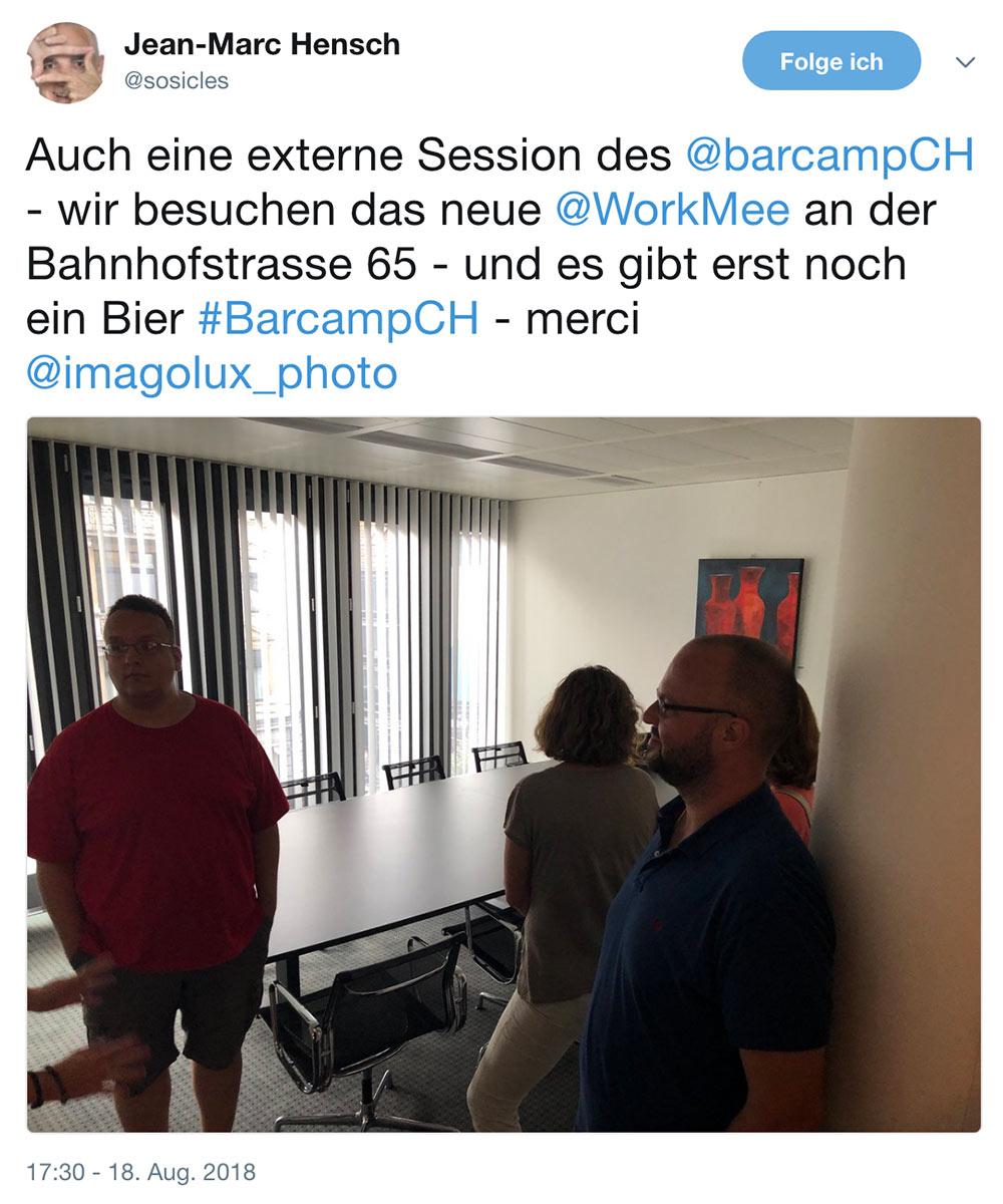 barcamp schweiz 2018 barcampch tweets 9 - Barcamp Schweiz 2018 - Mein Rückblick