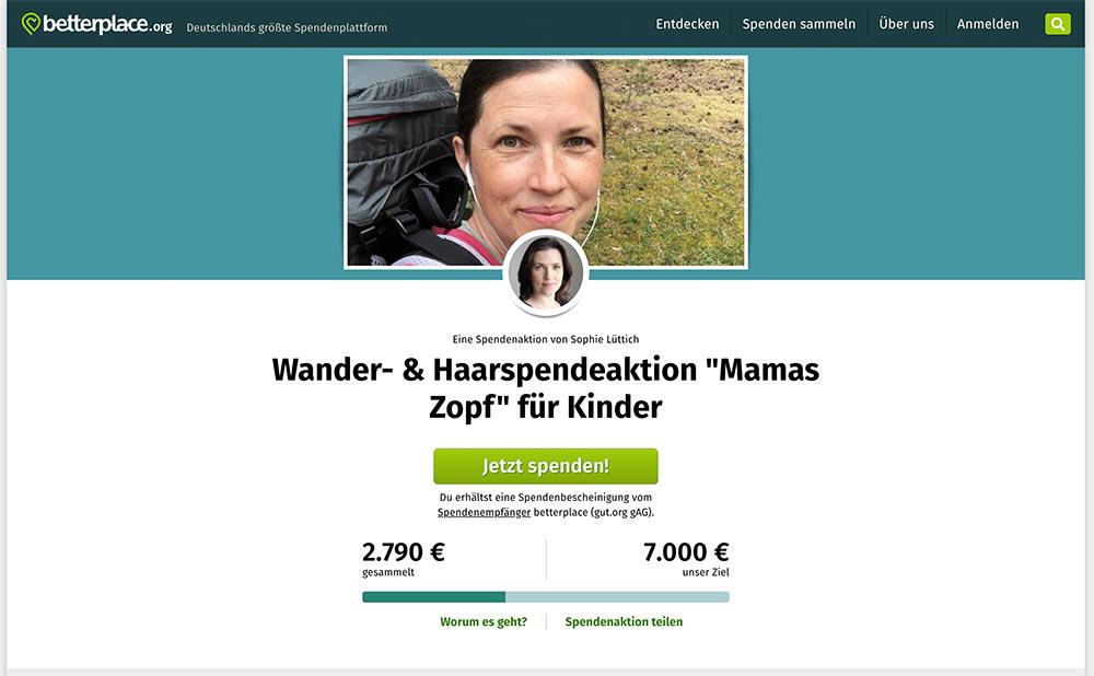 """berlinfreckles berlin wien 2020 3 - Berlinfreckles - eine Frau geht ihren verrückten Weg - Wander- & Haarspendeaktion """"Mamas Zopf"""" für Kinder"""