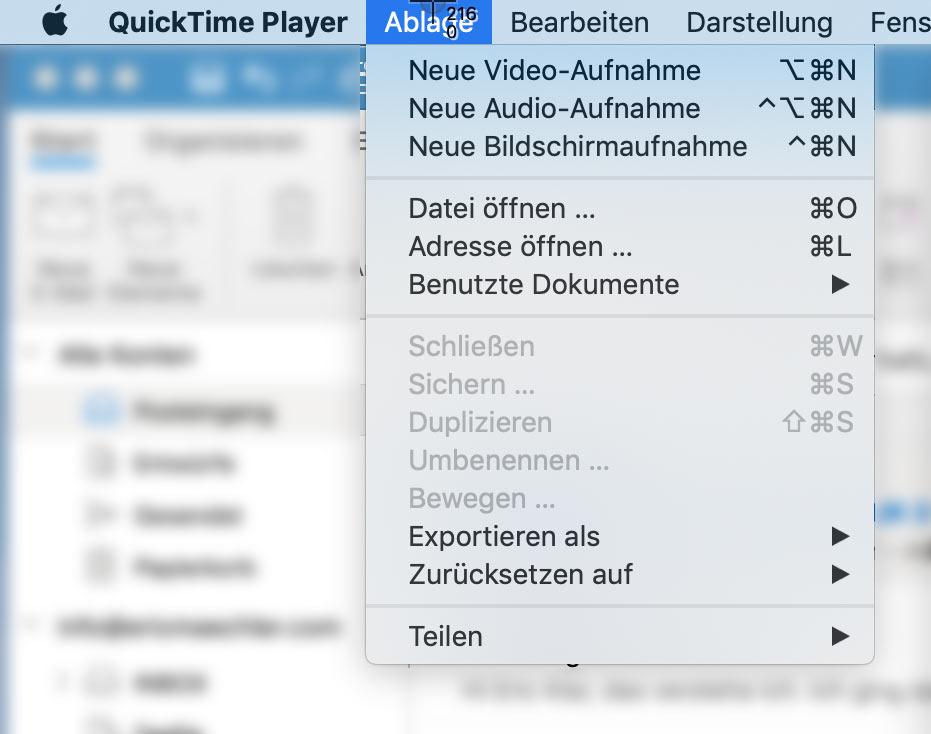 bildschirm aufnahme video mac - Wie nimmt man Bildschirm Videos auf? Windwos & Mac