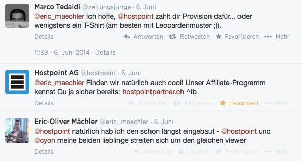 blogger relations hostpoint leopard 2 - Hostpoint, eine erfolgreiche Blogger-Relations und ein Kulthemd