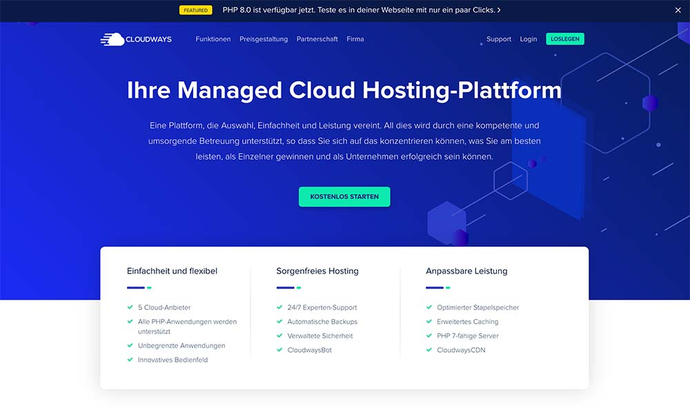 cloudways 2021 1 - Cloudways: Webseite Cloud Hosting ab 10 Dollar im Monat