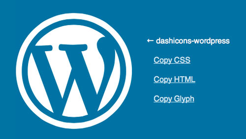 dashicon selected icon - Dash Icon in WordPress direkt einbauen