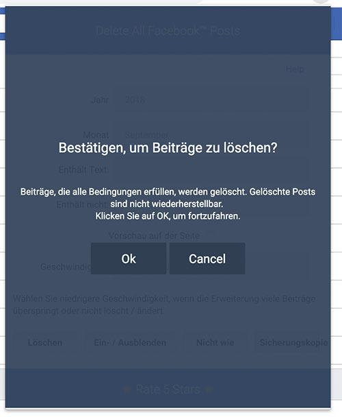 delete facebook chronik 2019 3 - Wie löscht man die Facebook Timeline (2019)