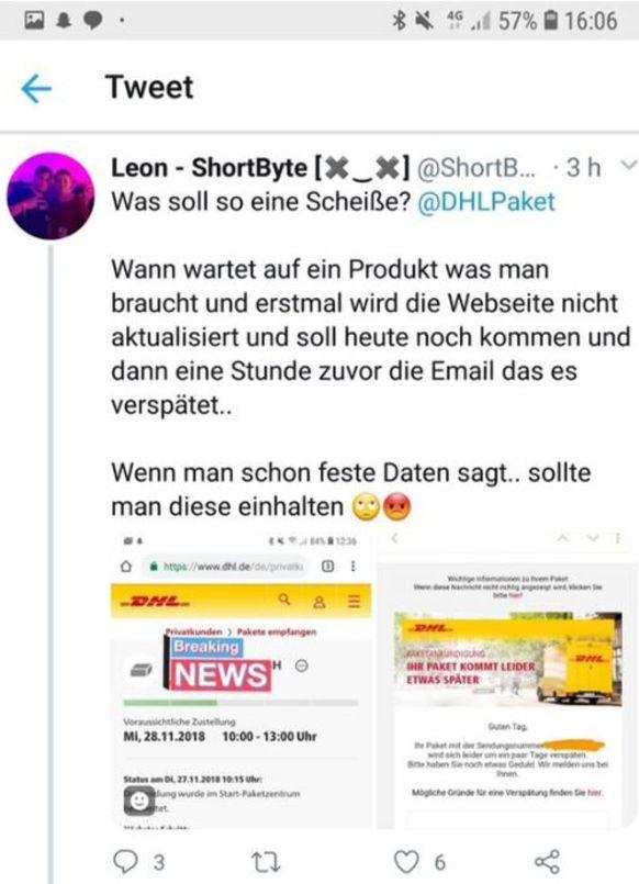 dhl tweet nov2018 1 - DHL und der Social Media Fail