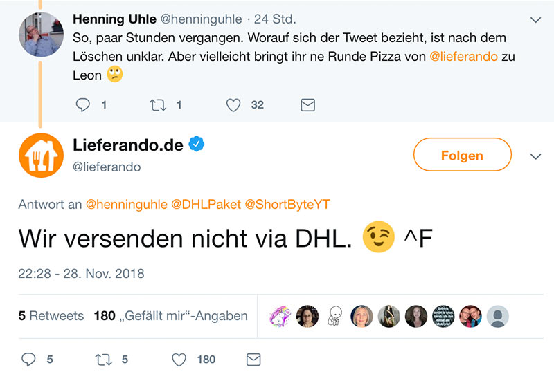 dhl tweet nov2018 4 - DHL und der Social Media Fail