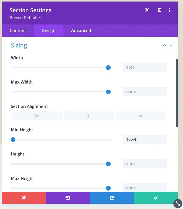 divi full height section center content 1 - Divi: Full Page mit zentrierter / eingemitteter Sektion