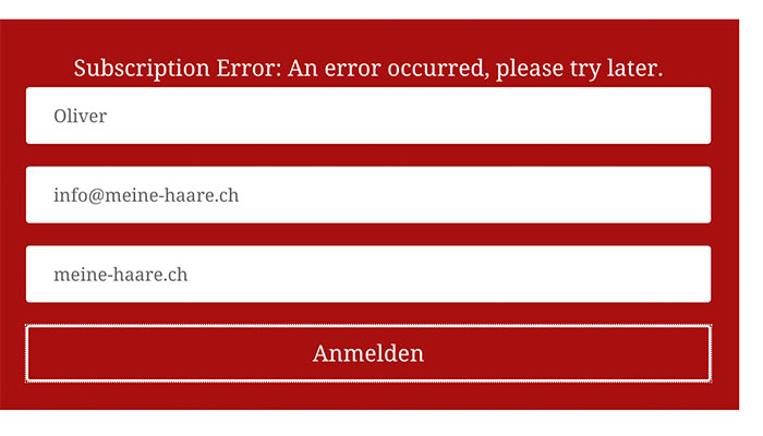 divi optin fehlermeldung 1 - Divi Optin Modul Subscription Error