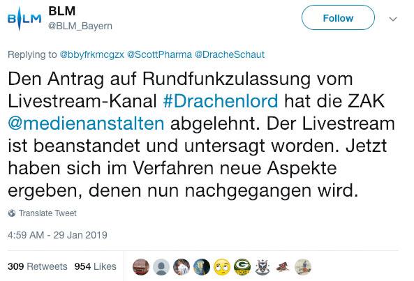 drachenlord - Drachenlord - Ohne Rundfunklizenz ist Livestreaming verboten