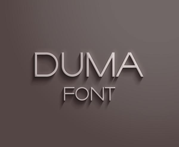 Duma - Free Font