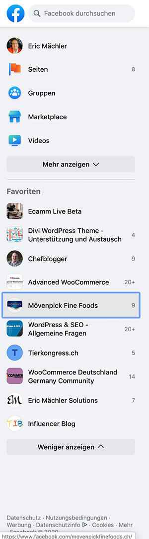 facebook 2020 new design 4 - Das neue Facebook Design ist da