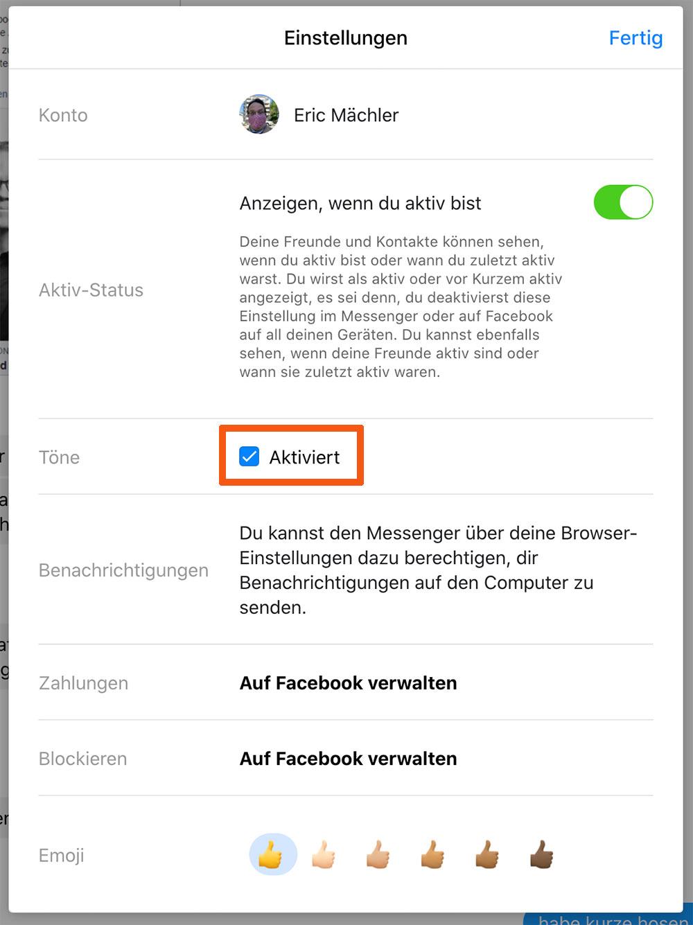 facebook benachrichtigungston messenger einstellung - Facebook Messenger Benachrichtungston ausschalten / deaktivieren