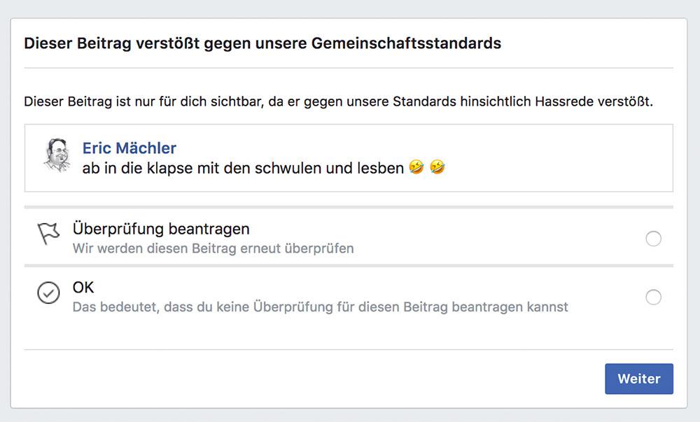 facebook blick artikel papst kinder psychiatrie 3 - Facebook: Verlinken führt zur Sperrung des Konto