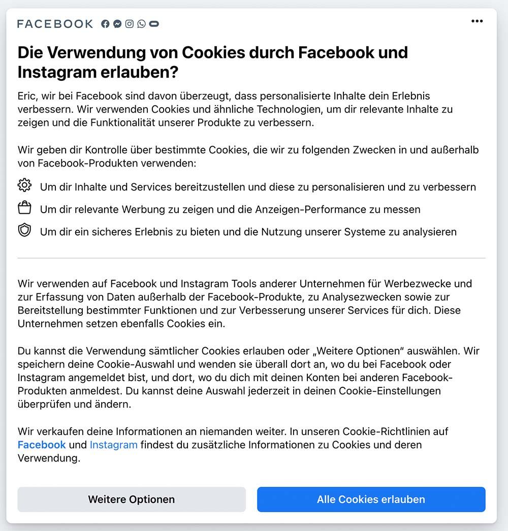 facebook cookie 0 - Facebook Cookie Meldung - Sie verarschen euch mal wieder grandios