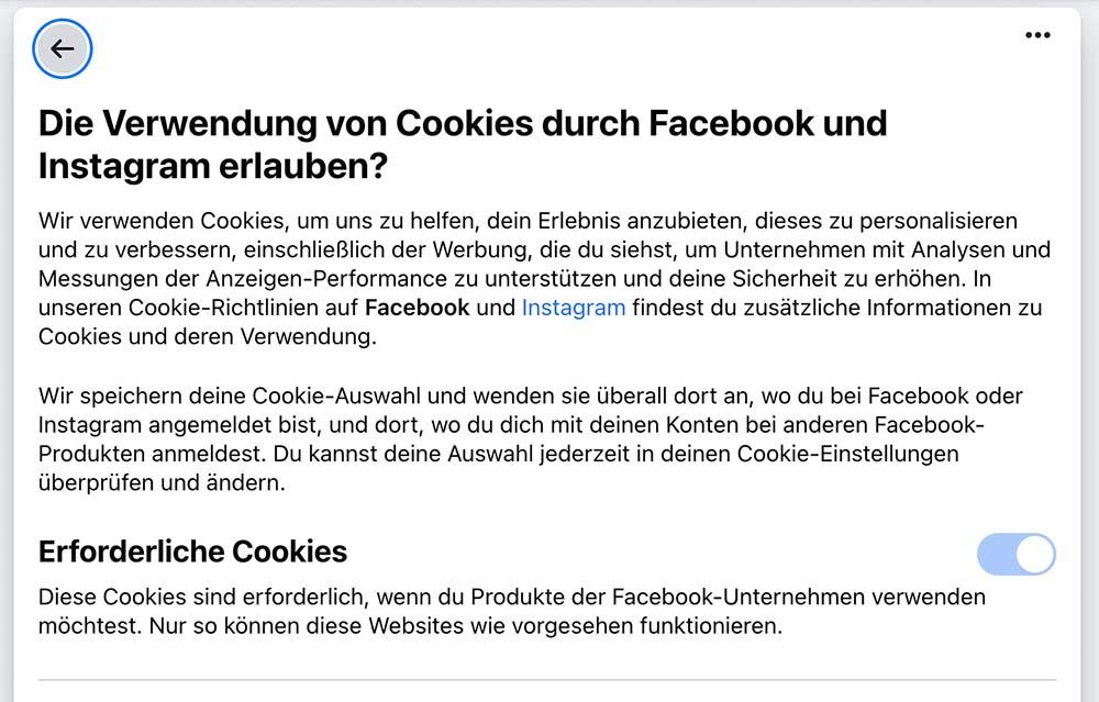 facebook cookie 1 - Facebook Cookie Meldung - Sie verarschen euch mal wieder grandios