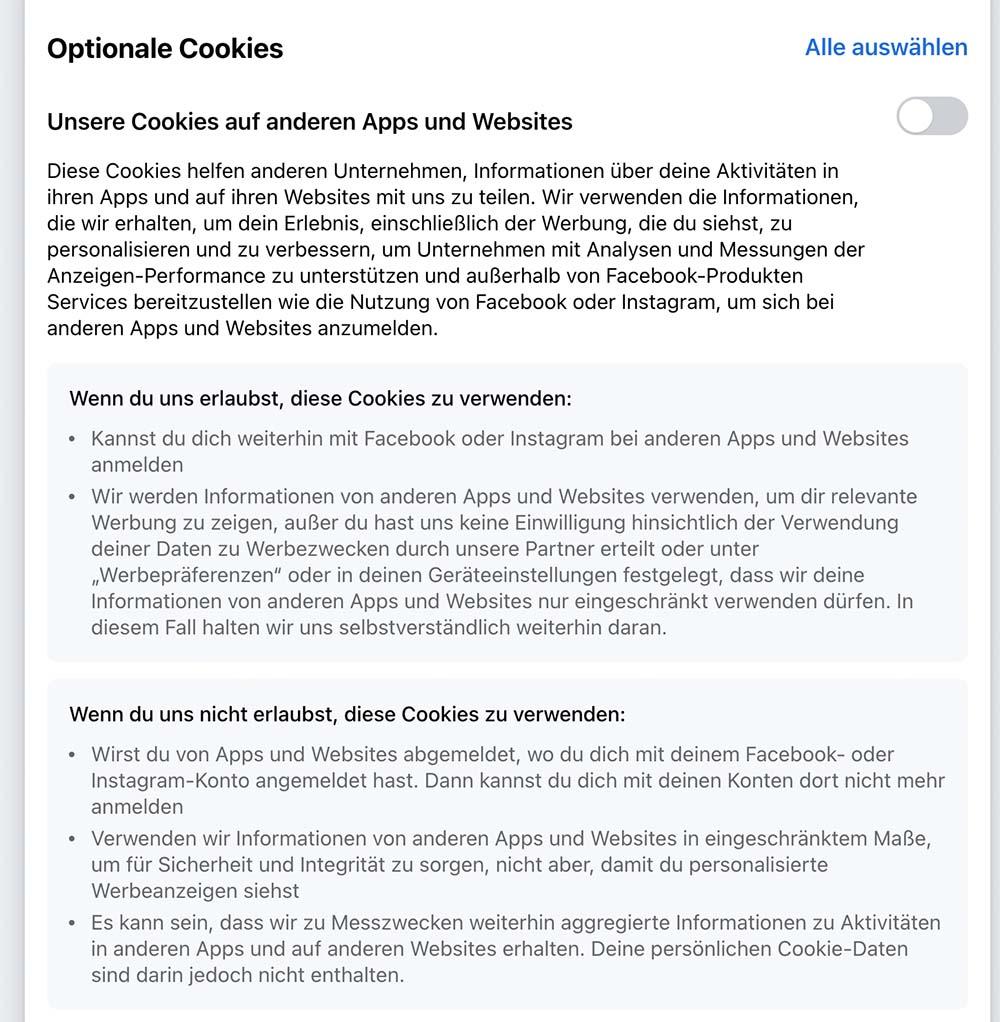 facebook cookie 2 - Facebook Cookie Meldung - Sie verarschen euch mal wieder grandios