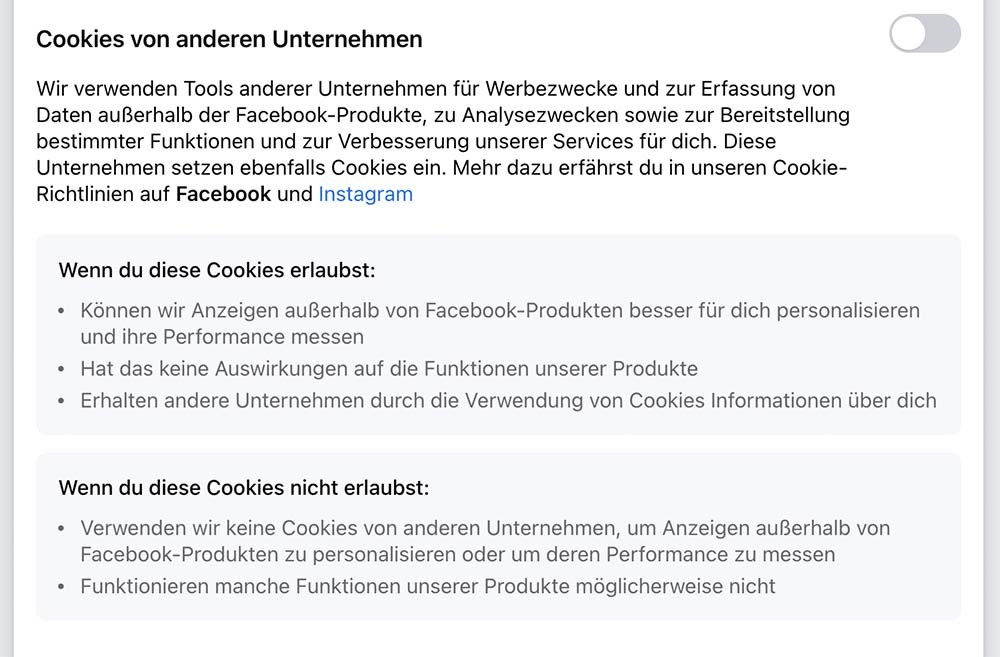 facebook cookie 3 - Facebook Cookie Meldung - Sie verarschen euch mal wieder grandios