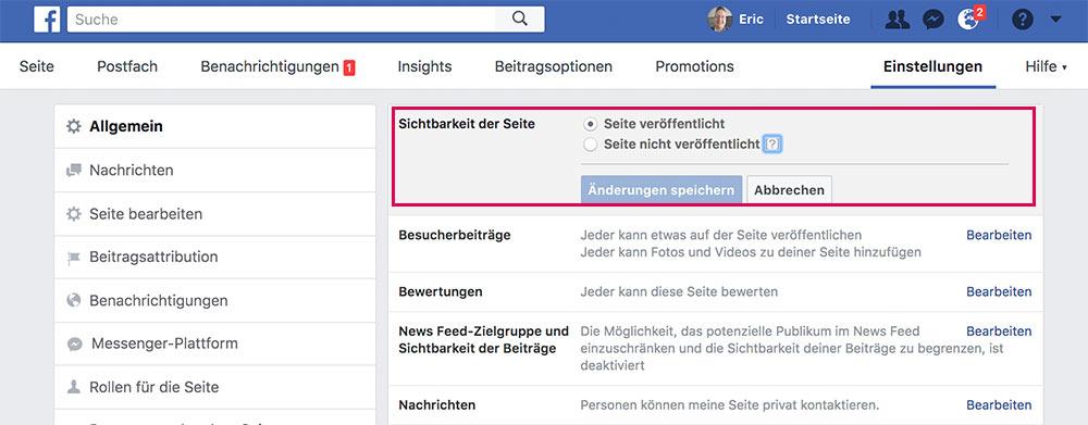 facebook fanpage loeschen deaktivieren 4 - Anleitung: Wie löscht oder deaktiviert man eine Facebook Fanpage?