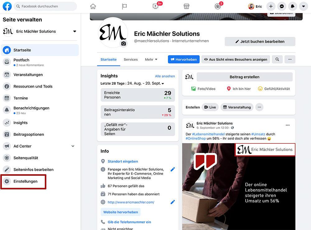 facebook fanpage neues design 2020 loeschen deaktivieren 2 - Anleitung: Wie löscht oder deaktiviert man eine Facebook Fanpage (Neues Design ab 2020)?