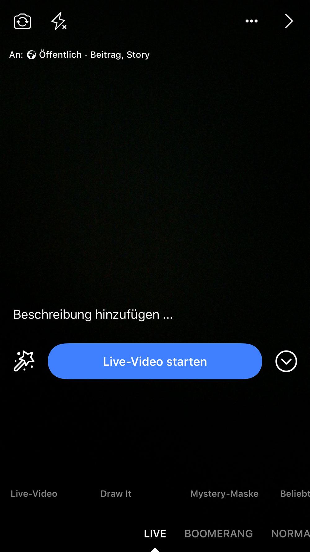 facebook live video 4 - Wie starte ich ein Live Video / Livestream bei Facebook