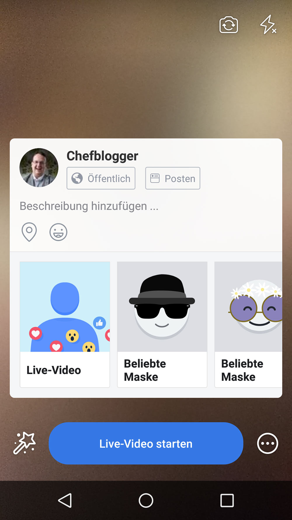 facebook live video 7 - Wie starte ich ein Live Video / Livestream bei Facebook