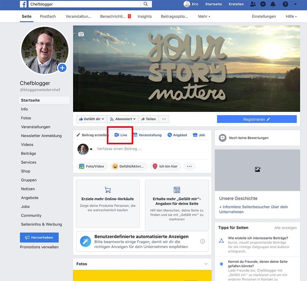 facebook live video 8 - Wie starte ich ein Live Video / Livestream bei Facebook