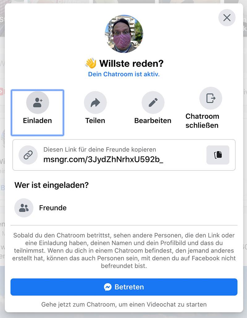 facebook messenger room 8 - Anleitung: Facebook Chatroom - Wie installiert man das?