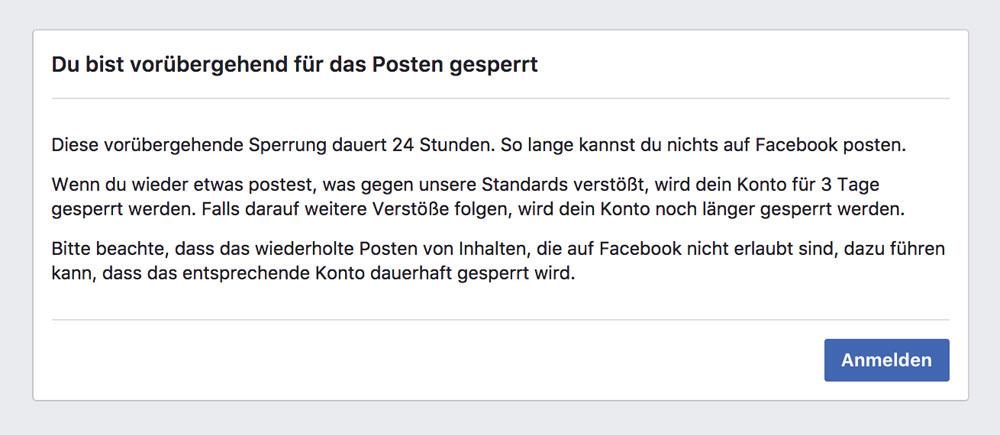 facebook sperre schwarzer humor 3 - Facebook: Schwarzer Humor führt zu Sperrung
