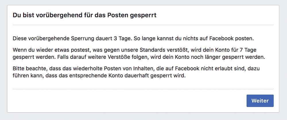 facebook sperre zitieren 2 - Facebook: Zitieren führt zu Sperrung