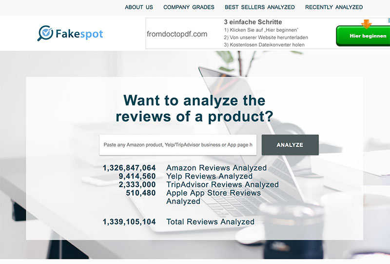 fake review 2 - Amazon Yelp Fake Reviews enttarnen