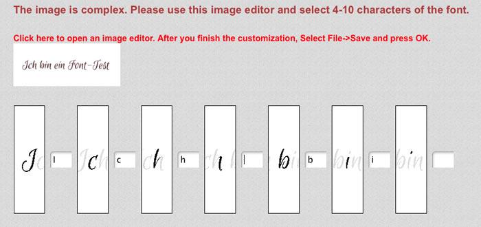 font test 2 - Anleitung - Wie man schnell jede Schrift online identifizieren kann