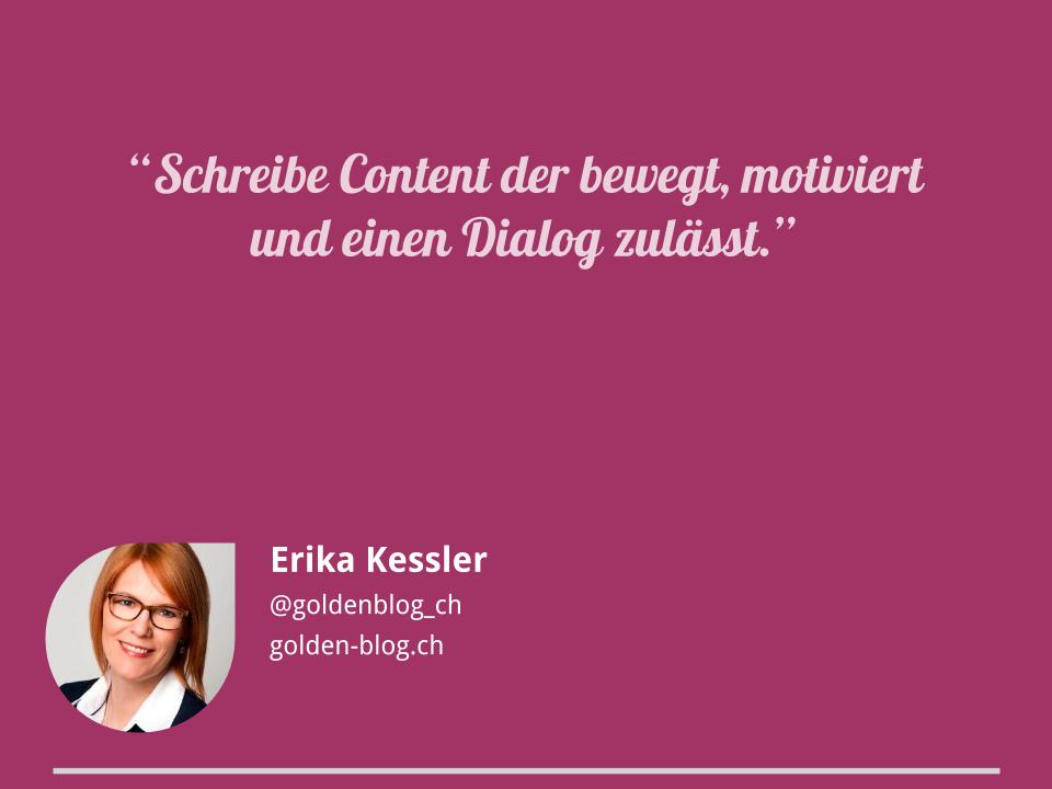 Blogger-Tipps von Erika Kessler