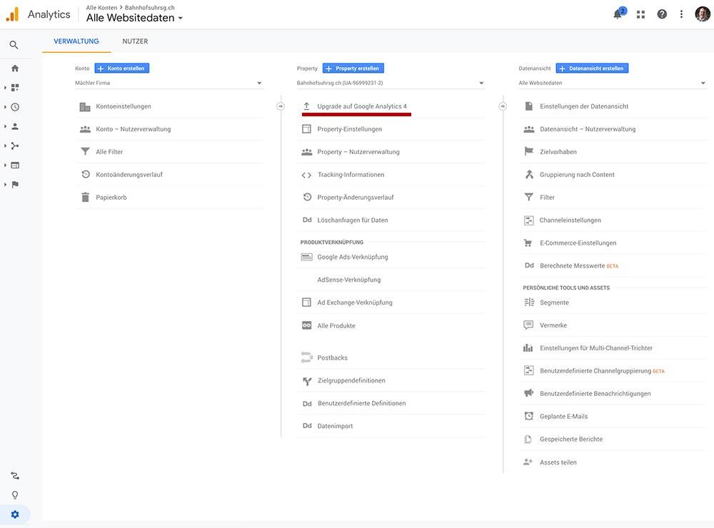 google analytics 4 aktualisieren 2 - Google Analytics 4 - Aktualisieren und Einrichten