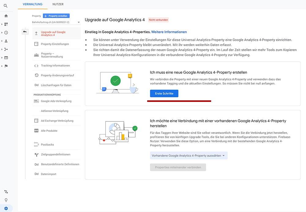 google analytics 4 aktualisieren 3 - Google Analytics 4 - Aktualisieren und Einrichten