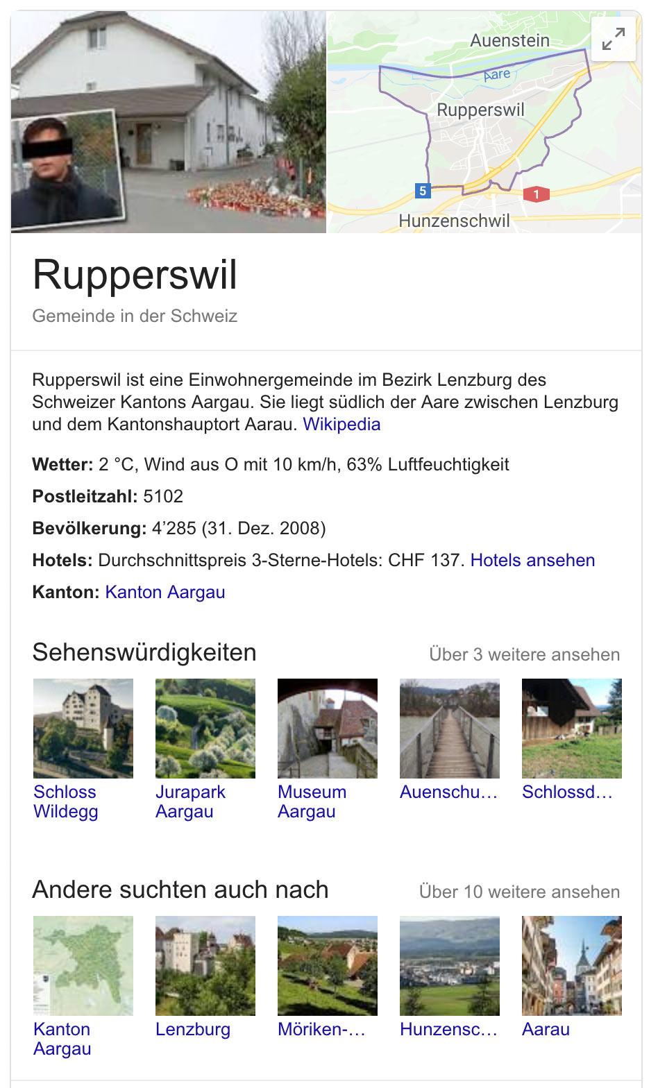 google snippet werbung rupperswil 3 - Google macht Werbung für Rupperswil AG mit einem Vierfachmörder