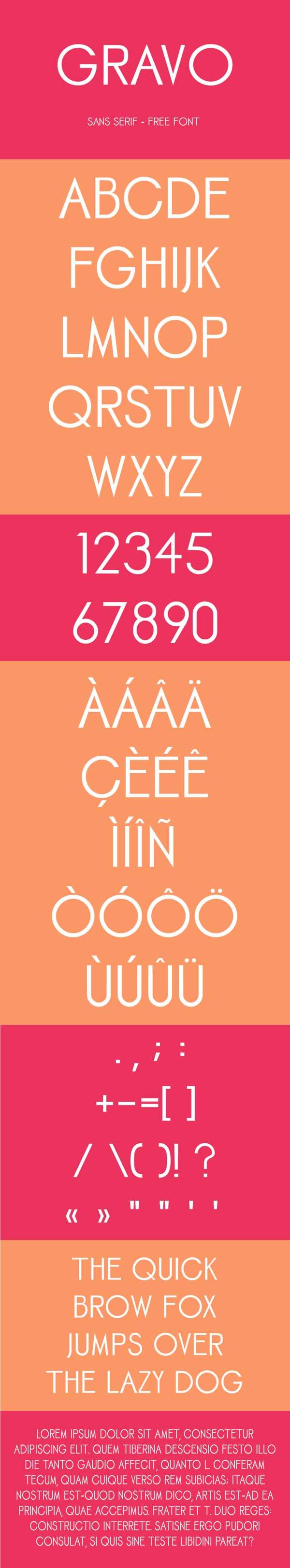Gravo - Free Sans Serif Font