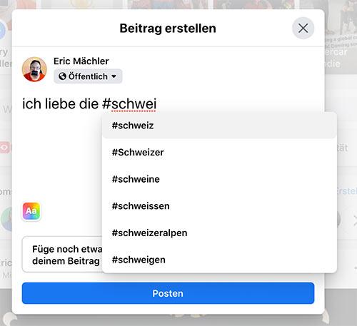 hashtag facebook juli 2020 1 - Facebook neue Hashtag Funktion - Aufgepasst