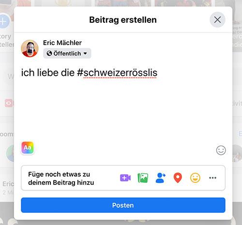 hashtag facebook juli 2020 2 - Facebook neue Hashtag Funktion - Aufgepasst