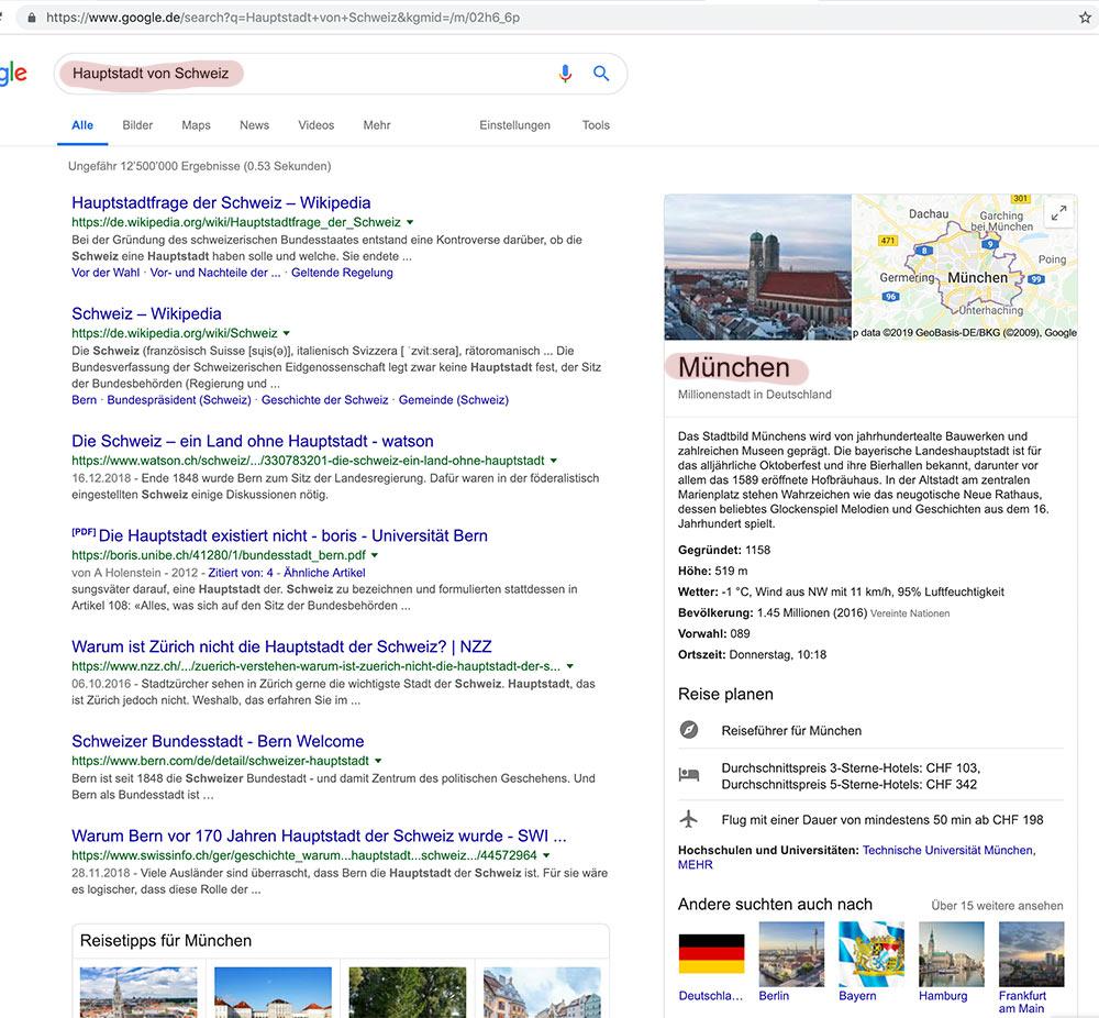 hauptstadt der schweiz muenchen - Glaubt nicht alles was im internet steht