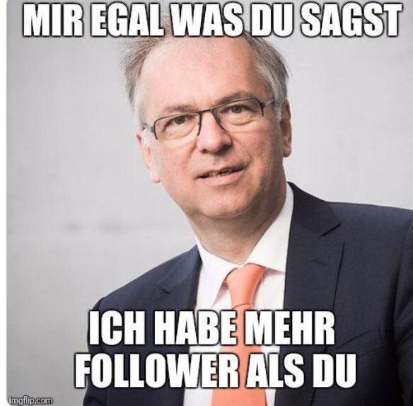 Heribert Hirte Meme «Mir egal was du sagst, ich habe mehr Follower als du»