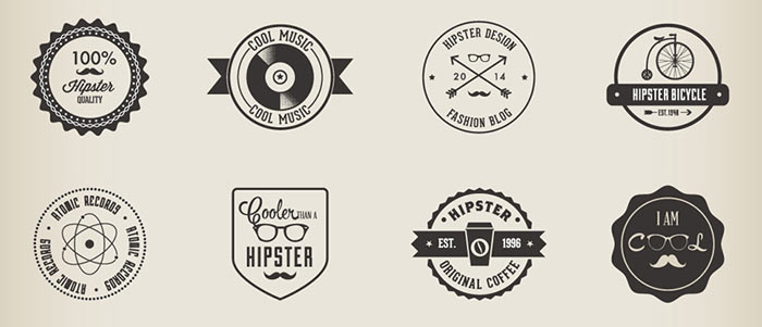 hipster badge pack - 32 Hipster Badges