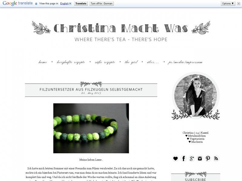 Food Blog christinamachtwas.blogspot.de
